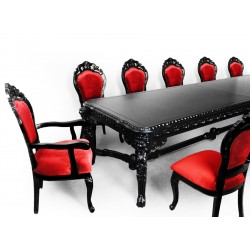 Lion king dining table empire 350 cm black