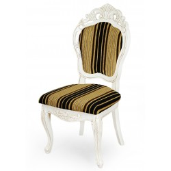 Dining chair louis baroque white