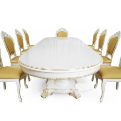 Stół rozkładany 350/295/240 cm Biedermeier