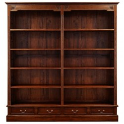 English double bookcase library
