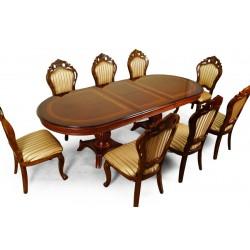 Rozkládací jídelní stůl 260/200 cm