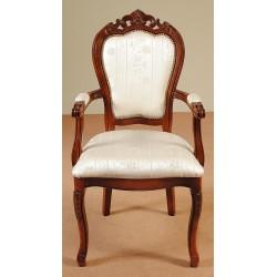 Krzesło rzeźbione fotel ludwik barok